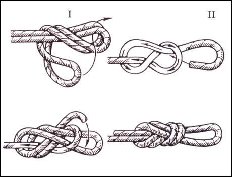 вязание узлов проводник восьмерка