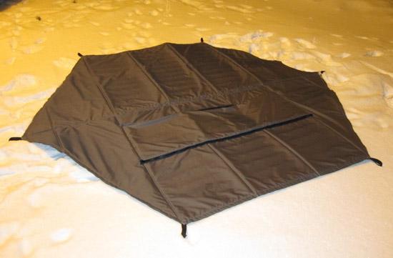 Как утеплить палатку куб своими руками