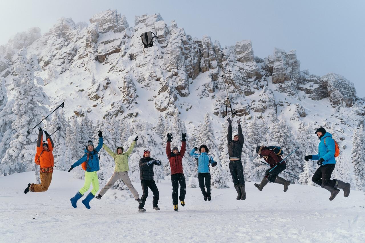 новогодний поход в горы