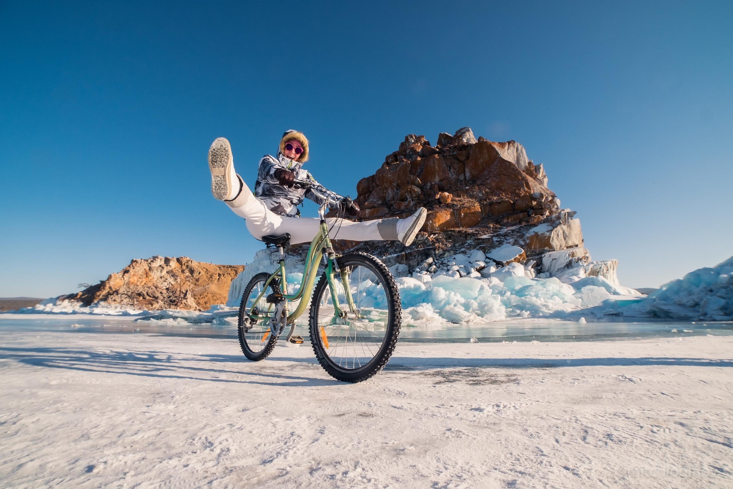 Зимний Байкал на велосипедах